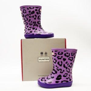 New Hunter Kids First Rain Boots In Purple
